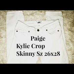 Paige • Kylie Crop • Skinny • Sz 26x28